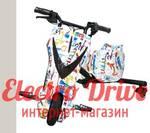 """Электроскутер для дрифта PowerRider 360 """"Белый граффити"""" арт. 1425"""