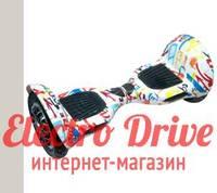"Гироскутер Smart Balance Wheel 10 дюймов ""Белый граффити"" арт. 1228"