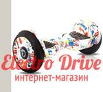 "Гироскутер iBalance Aqua 10,5 дюймов цвет ""Белый граффити"" арт. 1318"